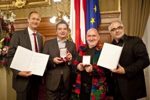 Goldene Auszeichnung für Simpl-Chef Albert Schmidleitner und Christoph Wagner-Trenkwitz