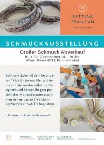 Ausstellung Bettina Francan Schmuck